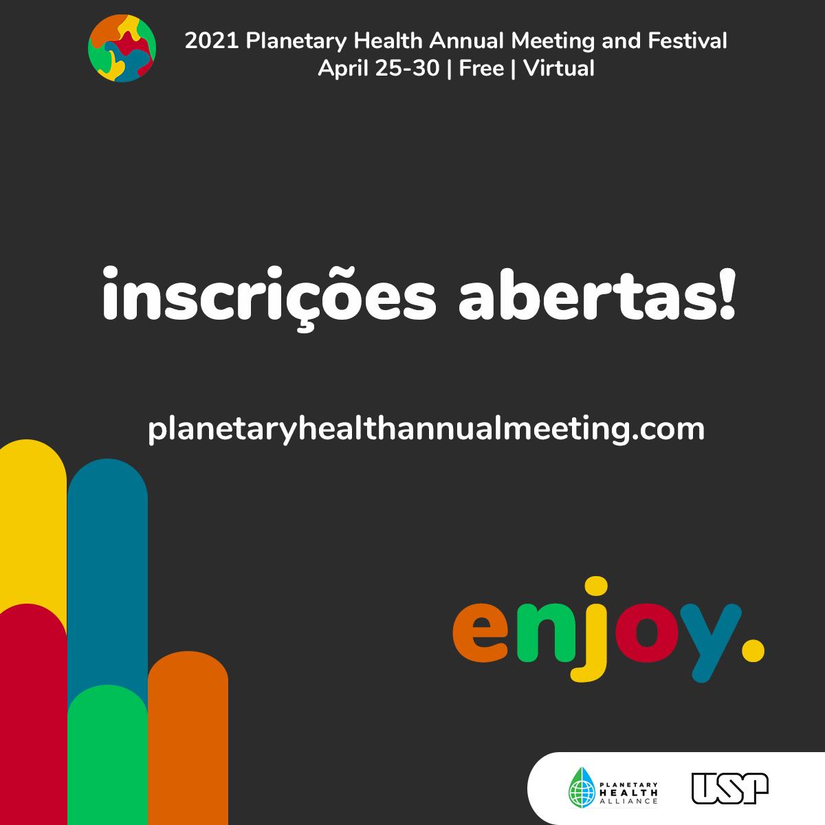 Estão abertas as inscrições para a Conferência Anual de Saúde Planetária